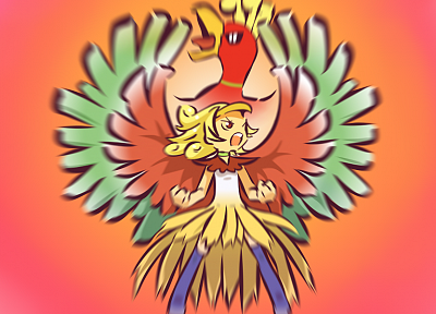 Pokemon, Ho-oh, Hitec - desktop wallpaper