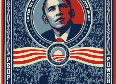 politics, election, Barack Obama, Presidents of the United States, Shepard Fairey, posters - random desktop wallpaper