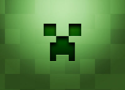creeper, Minecraft, pixel art - desktop wallpaper