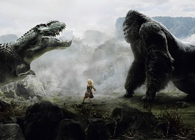 dinosaurs, King Kong, Naomi Watts - desktop wallpaper