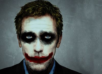 The Joker, Hugh Laurie, Gregory House, crossovers - random desktop wallpaper