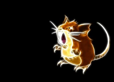 Pokemon, raticate, simple background, black background - related desktop wallpaper