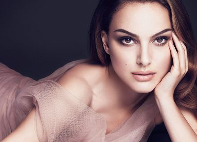 brunettes, women, actress, Natalie Portman, celebrity, faces - related desktop wallpaper