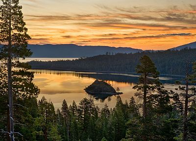 California, islands, Emerald, bay, Lake Tahoe - random desktop wallpaper