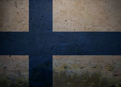 grunge, flags, Finland - desktop wallpaper