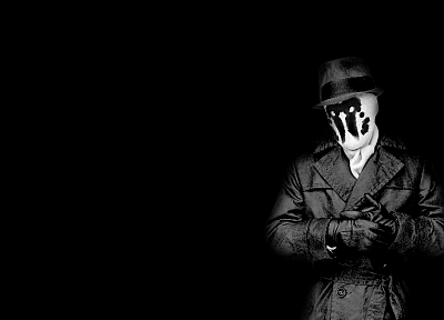 Watchmen, Rorschach, grayscale, monochrome - desktop wallpaper