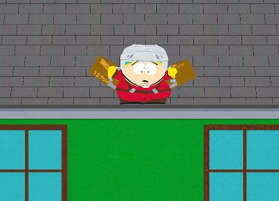 South Park, rooftops, Eric Cartman - random desktop wallpaper