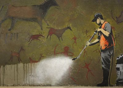 Banksy, street art - random desktop wallpaper