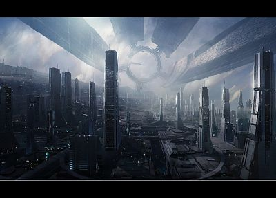 cityscapes, futuristic, Mass Effect, buildings, Mass Effect 2, Mass Effect 3 - random desktop wallpaper