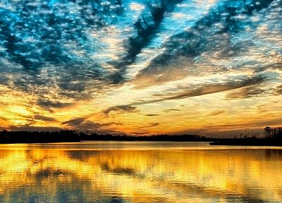 water, clouds, nature, lakes, skyscapes - desktop wallpaper
