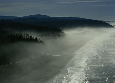 landscapes, fog, California, Pices, beaches - random desktop wallpaper