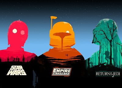 Star Wars, C3PO, Darth Vader, Boba Fett, Star Wars: The Empire Strikes Back - random desktop wallpaper