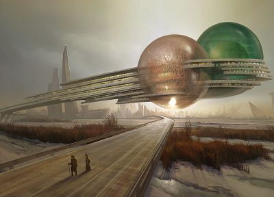 futuristic, fantasy art, science fiction - related desktop wallpaper