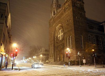 snow, streets, churches - related desktop wallpaper