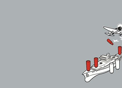 minimalistic, vectors, funny, Threadless, battleships - desktop wallpaper