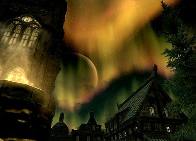 night, screenshots, Xbox 360, solitude, The Elder Scrolls V: Skyrim - random desktop wallpaper