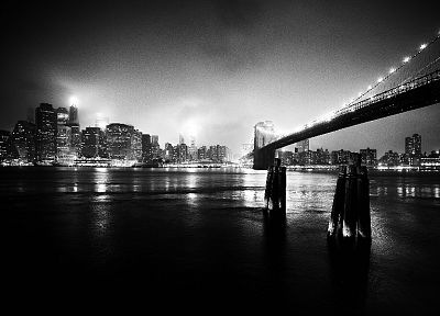 cityscapes, bridges, buildings, grayscale - related desktop wallpaper