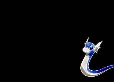 Pokemon, Dragonair, black background - related desktop wallpaper