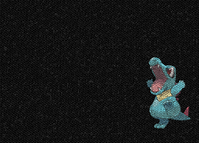 Pokemon, mosaic, Totodile - random desktop wallpaper