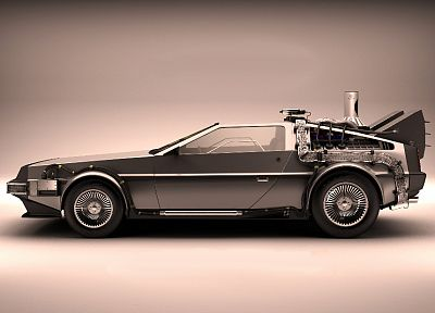 cars, Back to the Future, time travel, DeLorean DMC-12 - random desktop wallpaper
