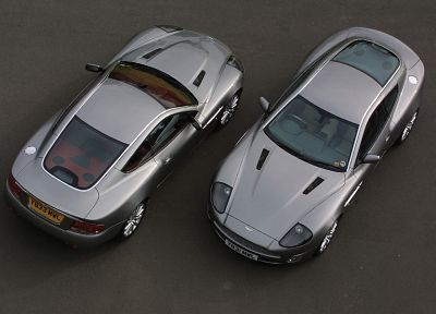 cars, Aston Martin V12 Vanquish, top view - random desktop wallpaper