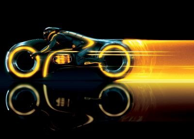 Tron Legacy, vehicles, motorbikes, lightcycle - desktop wallpaper