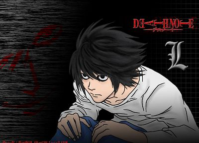Death Note, L. - desktop wallpaper