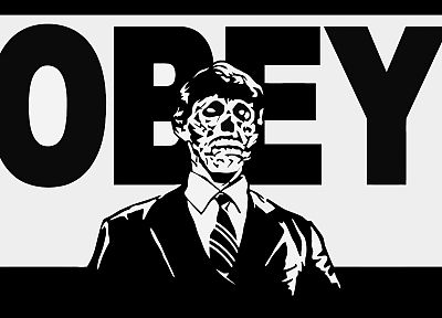 skulls, obey, They Live, Alien - random desktop wallpaper