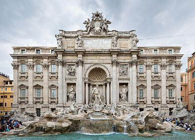 smoking, trevi fountain, columns - popular desktop wallpaper