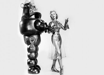 robot, science fiction, Forbidden Planet, Anne Francis - popular desktop wallpaper