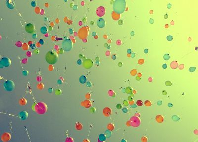 multicolor, balloons, skyscapes - random desktop wallpaper