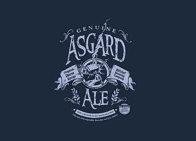 minimalistic, Thor, funny, Asgard, ale - related desktop wallpaper