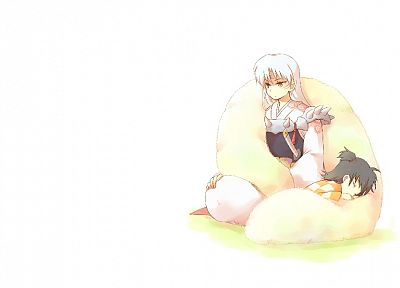 Inuyasha, Sesshomaru, white background - related desktop wallpaper