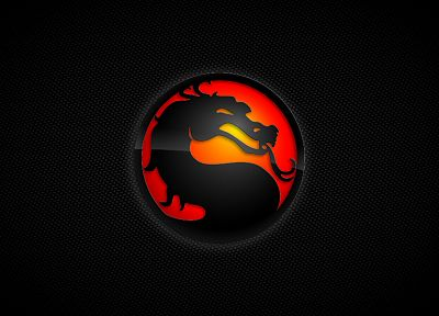 Mortal Kombat, logos, black background, Mortal Kombat logo - random desktop wallpaper