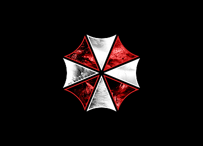 video games, movies, Resident Evil, Umbrella Corp., logos, simple background - desktop wallpaper