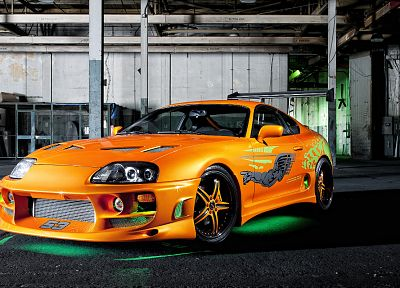 cars, supercars, Toyota Supra, The Fast and the Furious - random desktop wallpaper