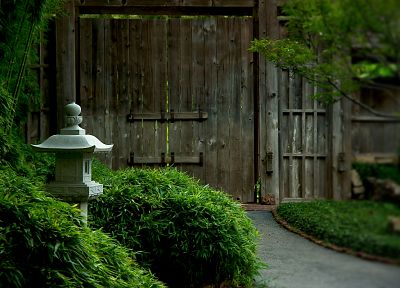 garden, rocks, Japanese, Composition, zen, gate - desktop wallpaper
