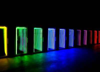 lights, multicolor, rainbows, neon - random desktop wallpaper