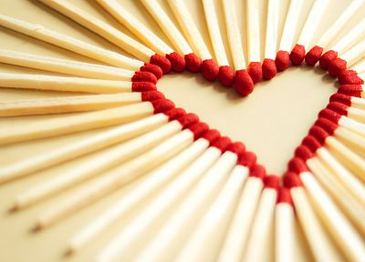 love, match, hearts, creativity, matchsticks - random desktop wallpaper