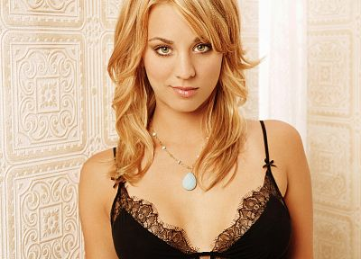 lingerie, women, Kaley Cuoco - random desktop wallpaper