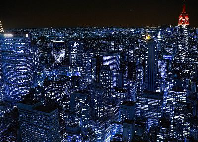 cityscapes, night, lights, New York City, scenic, skyscapes - desktop wallpaper