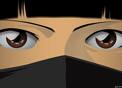 eyes, Bleach, vectors, Soifon - desktop wallpaper