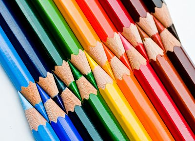 multicolor, rainbows, pencils - random desktop wallpaper
