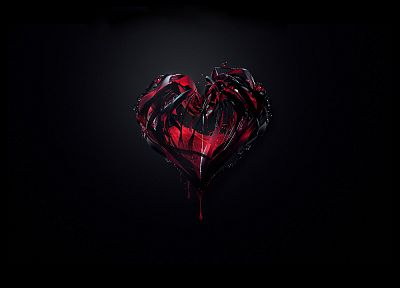 love, black, hearts, Justin Maller - random desktop wallpaper