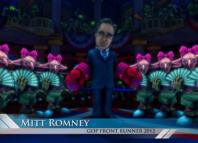 video games, Dungeon Defenders, Mitt Romney - random desktop wallpaper