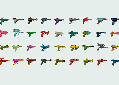 guns, multicolor, rayguns - related desktop wallpaper
