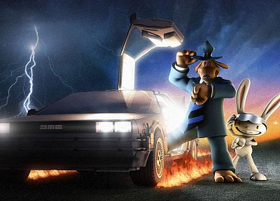 video games, Back to the Future, Sam And Max, DeLorean DMC-12 - random desktop wallpaper
