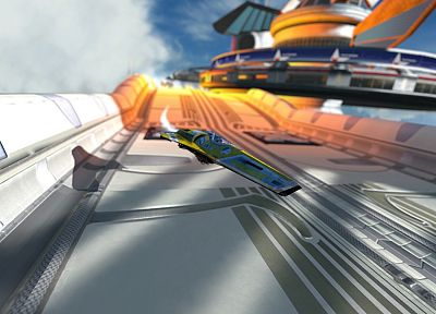 video games, futuristic, Wipeout, Wipeout HD - related desktop wallpaper
