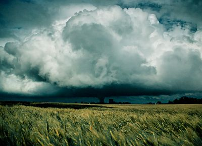clouds, landscapes, nature, fields - related desktop wallpaper