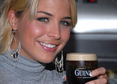 blondes, beers, women, Gemma Atkinson - random desktop wallpaper